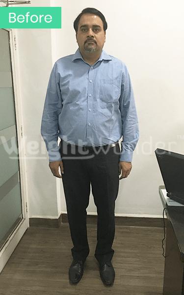Before-Ajinkya Kadam (Lost 15.5kgs)