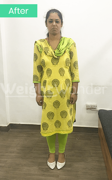 After-Amrita Tople (Lost 33kgs)