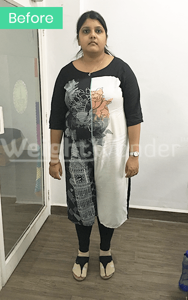 Before-Nidhi Srivastava (Lost 25.6kgs)