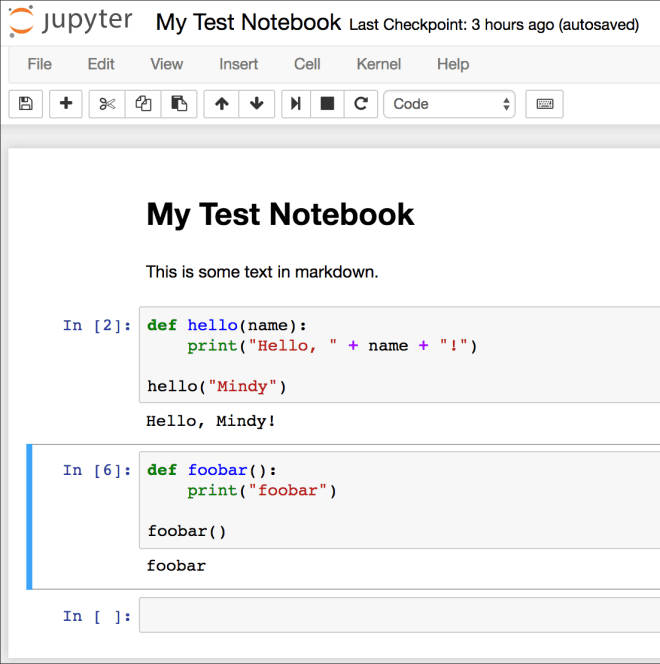 Screenshot: Jupyter Notebook