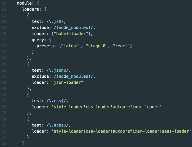Image: Code for React loaders