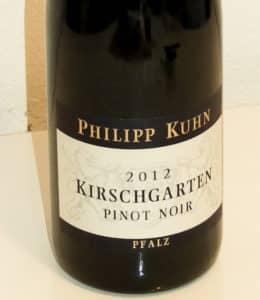 Pinot Noir Pfalz Philipp Kuhn Kirschgarten GG 2012 Review Spätburgunder
