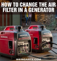 how to change the air filter in a honda generator [ 1000 x 956 Pixel ]