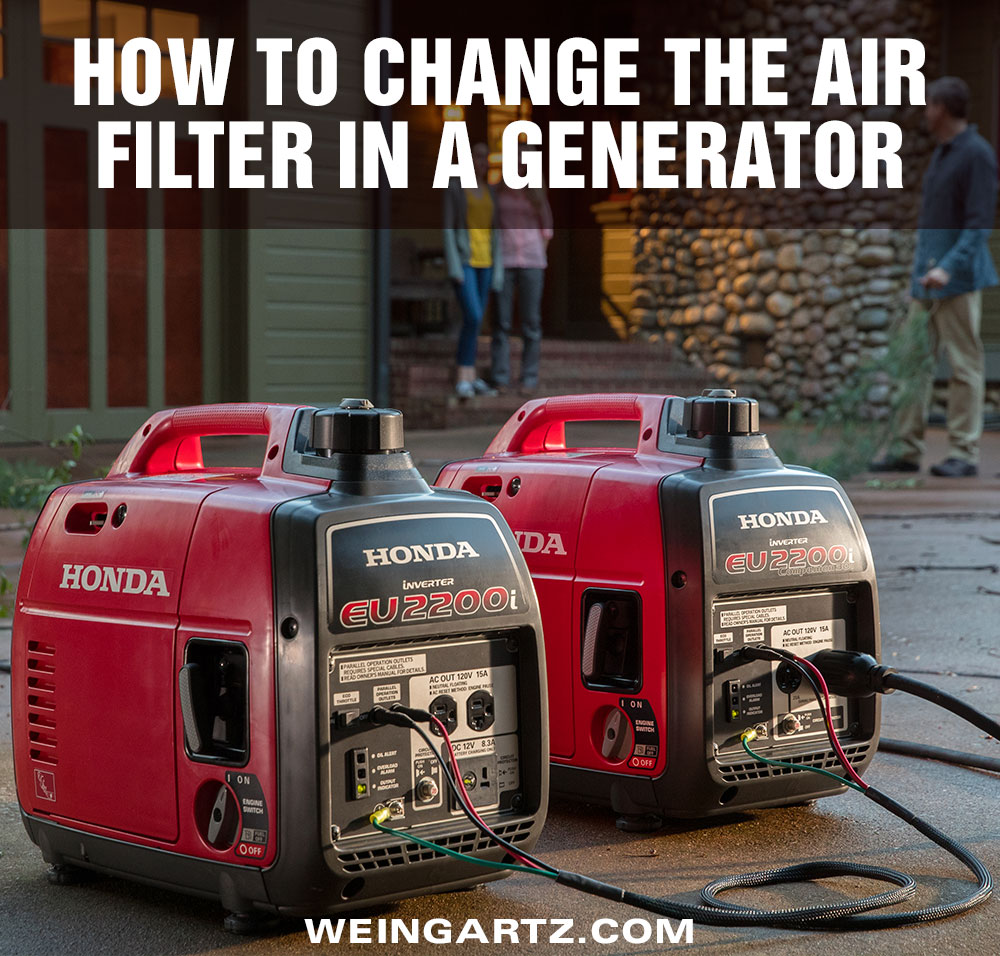 hight resolution of how to change the air filter in a honda generator