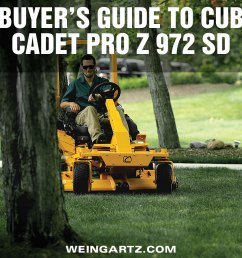 buyer s guide to cub cadet pro z 972 sd [ 1000 x 913 Pixel ]