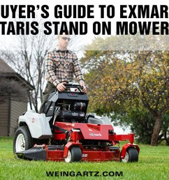 buyer s guide to exmark staris stand on mowers [ 1000 x 913 Pixel ]