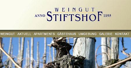 """Weingut """"Stiftshof"""" - Heiko Schütz<br /> Am Wallgraben 22a - 56850 Enkirch"""