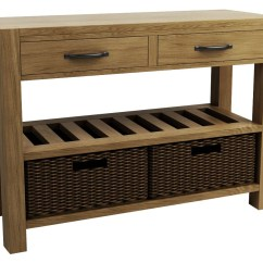 Sofa Table Storage Baskets Diy Upholstery Instructions Goliath Double Basket Console Tables