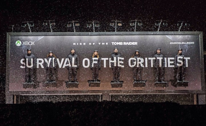 Xbox-Rise-of-the-Tomb-Raider-Survival-Stunt-Tortures-Fans-Strapped-To-A-Billboard-2