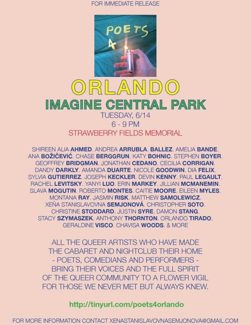 Poets 4 Orlando poetry reading for Orlando