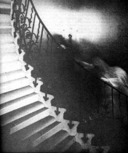Picture of ghost haunting staircase