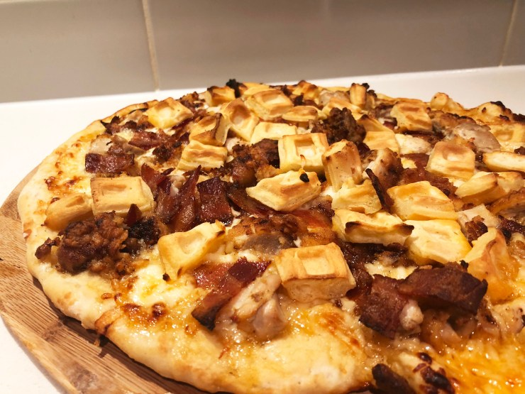 Chicken and Waffle Pizza