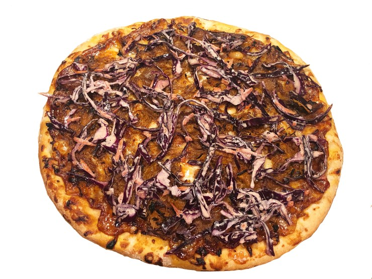 Pulled Pork Pizza with Coleslaw