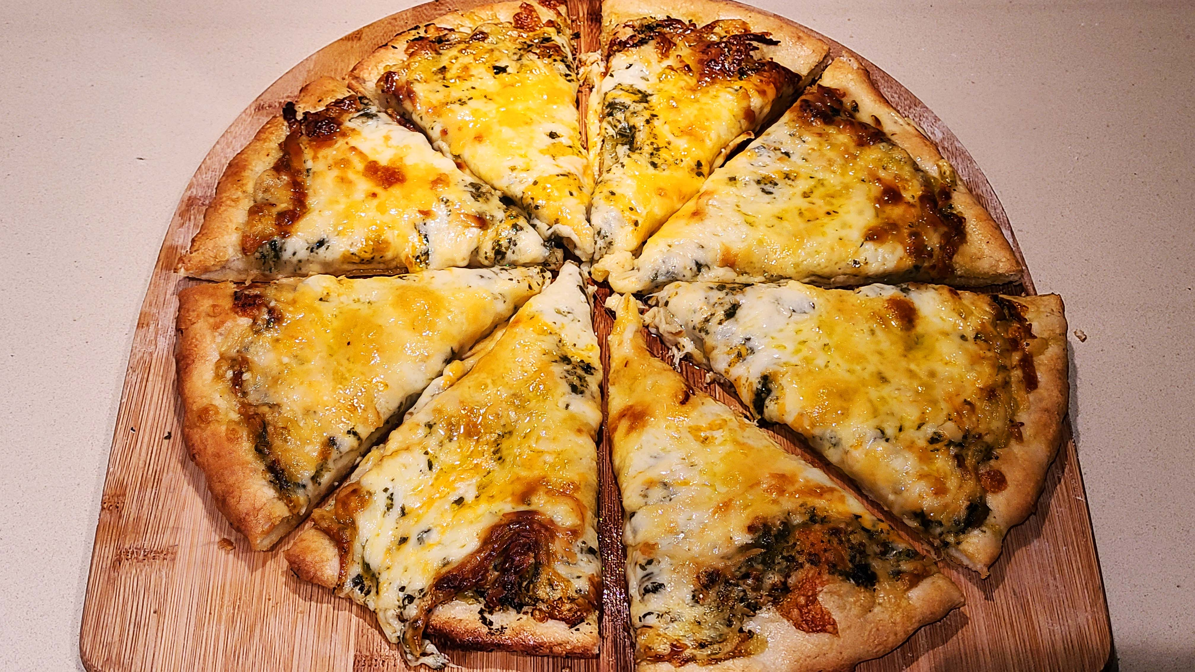 8 Cheese Pesto Pizza Recipe