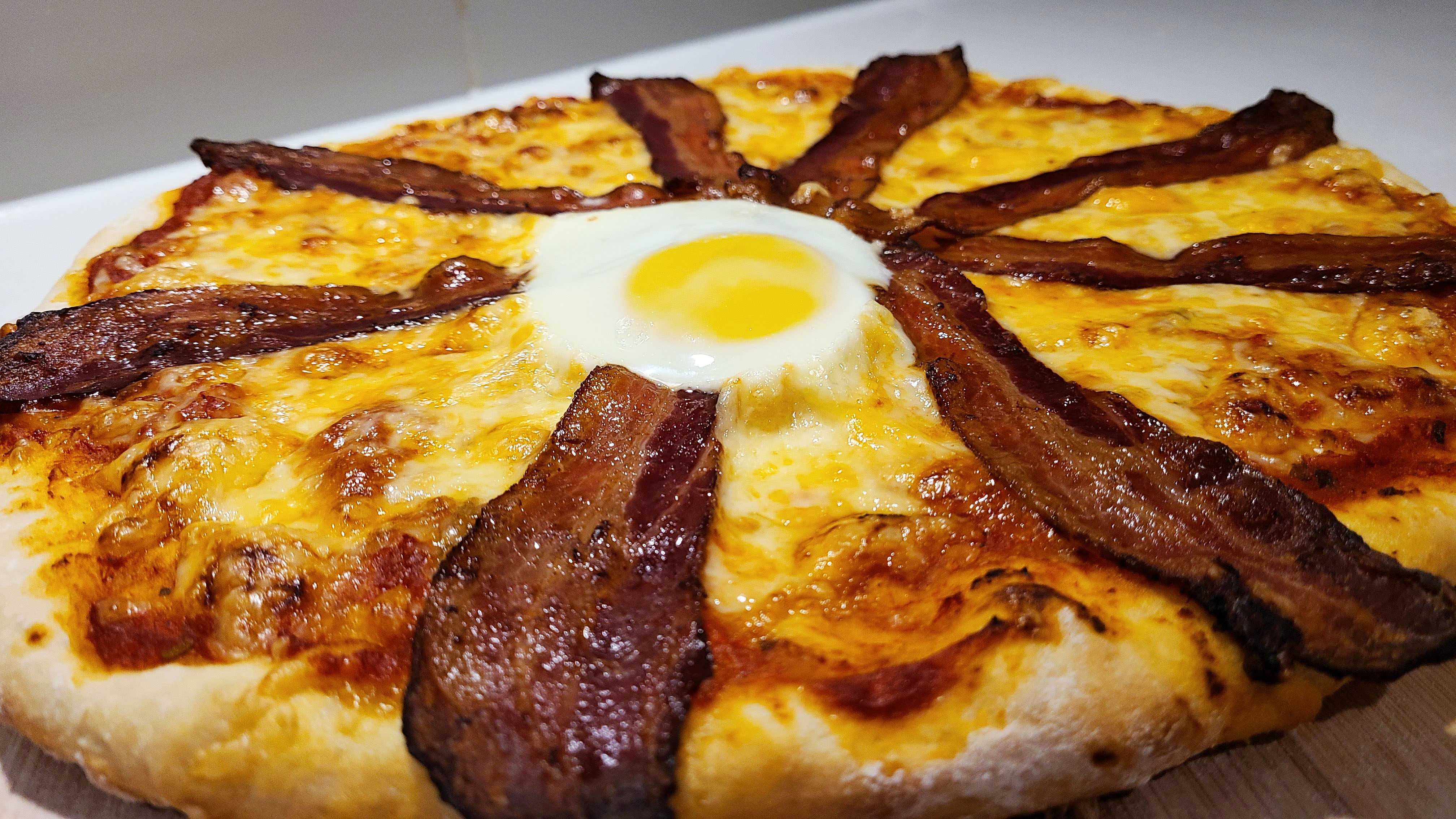 Bacon and Egg Pizza Recipe