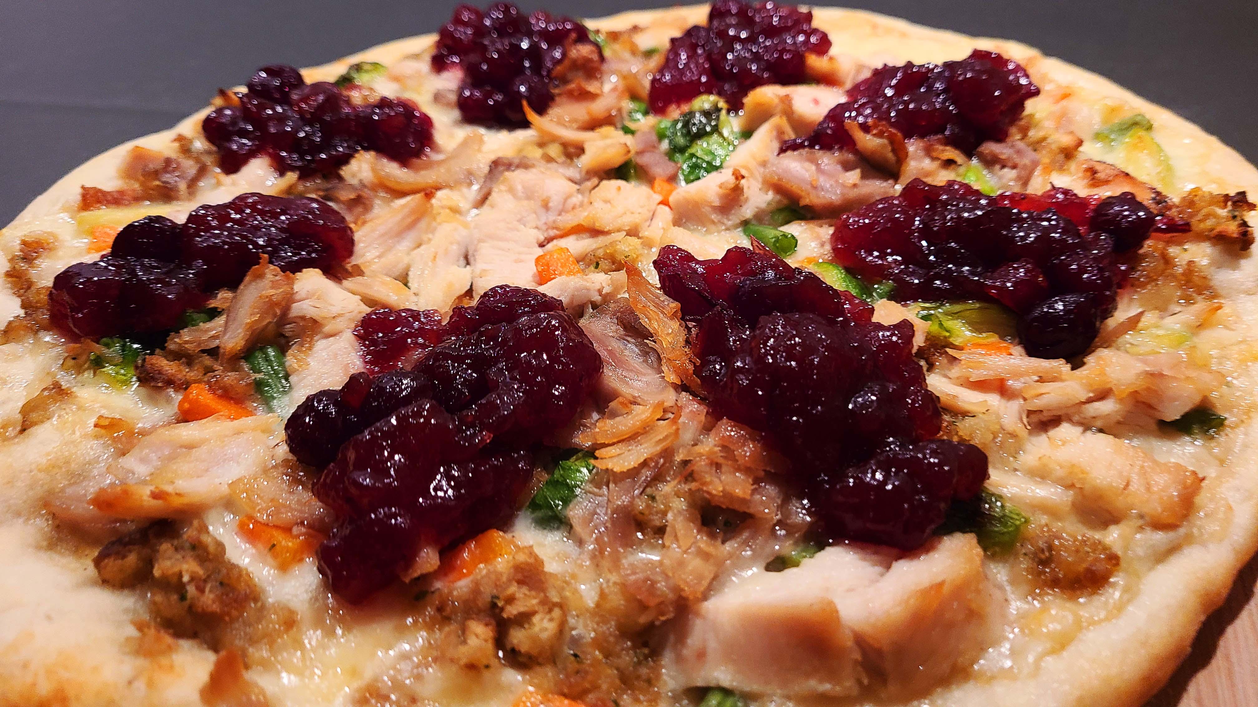 Thanksgiving Turkey Pizza Recipe