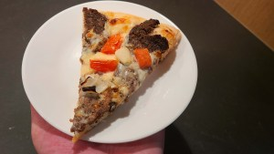 Beef Donair Pizza Slice