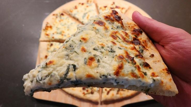 Spinach Dip Pizza Recipe