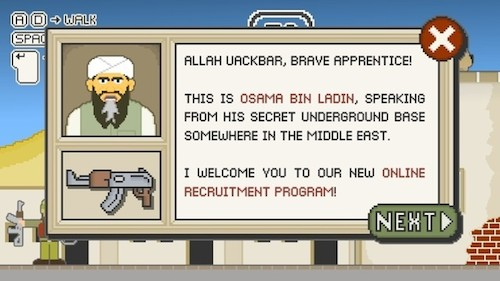Osama Bin Laden Game Arrives as he Leaves. Tops Newgrounds Chart.