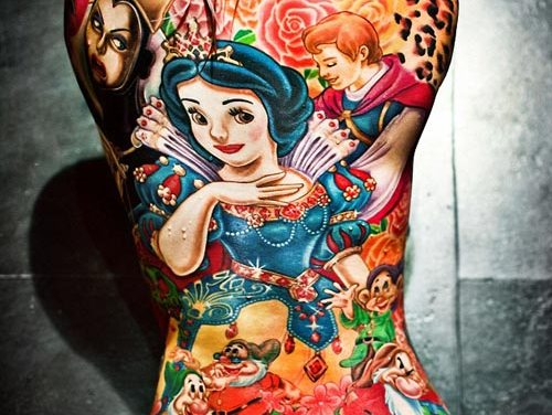 Amazing Disney Snow White Tattoo