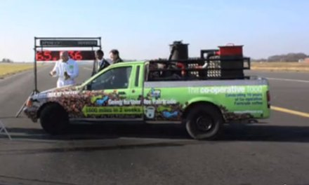 Coffee Powered Car Breaks Records, Not Hearts