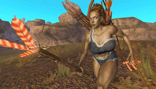 BC - Lionhead developed but cancelled game. - Cave-woman holding a spear perhaps