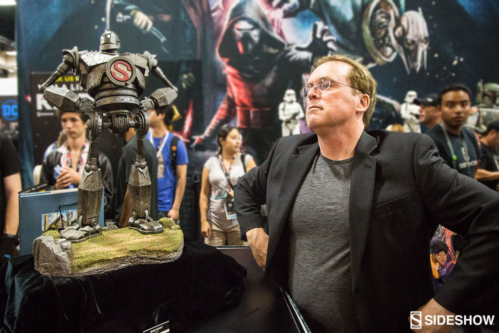 iron giant statue with brad bird