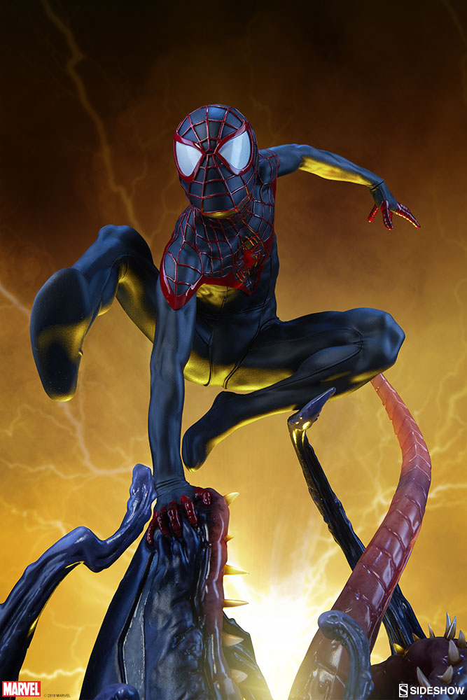 marvel spider man miles Morales premium format figure from sideshow