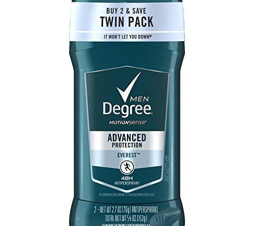 Degree Men Antiperspirant Deodorant 48-Hour Odor Protection Everest Best Deodorant for Underarm Sweat 2.7 oz, 2 Count