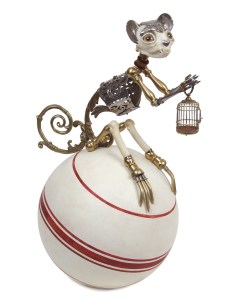 Lazlo, 2010, Jessica Joslin,antique brass hardware and findings, painted steel, bone, glove leather, silver, glass eyes (2)