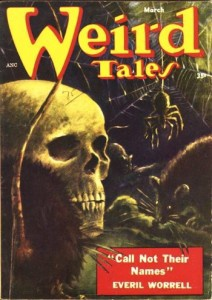 "Weird Tales, March 1954, which included ""Brenda."""