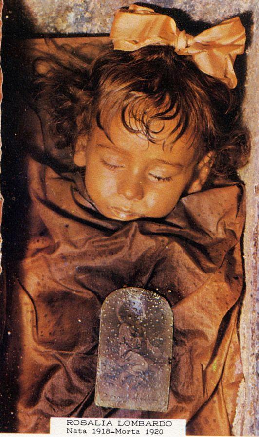 Rosalia Lombardo mummy - Capuchin Catacombs of Palermo