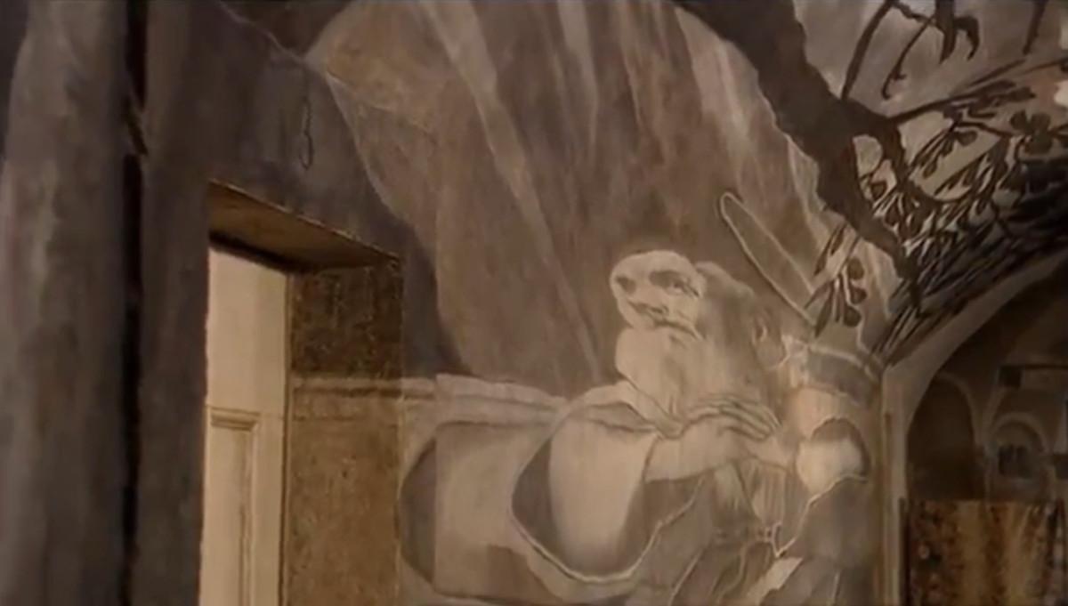 The hypnotic anamorphic image hidden in Santa Maria dei Monti, Rome