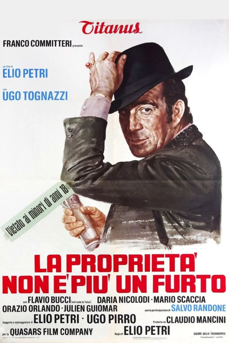 """Poster for the movie """"Property Is No Longer a Theft"""""""