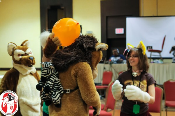 At Condition Vs. Monsters the fully furred and the partial people have fun together © 2014 by John N. Collins