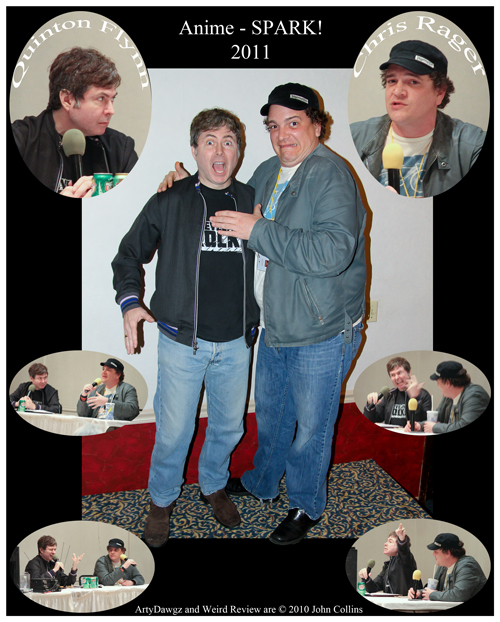 Quinton Flynn and Chris Rager at Anime-SPARK!