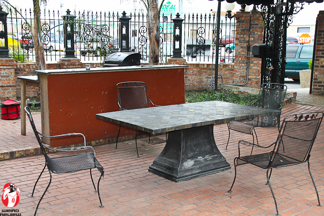 The patio and Barbeque