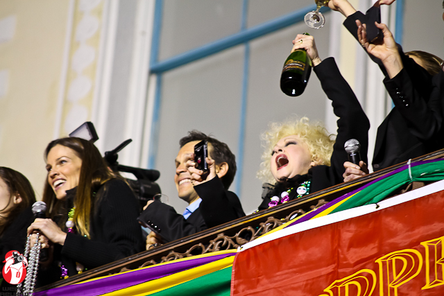 Cyndi Lauper giving a shout out to King Will of Bacchus