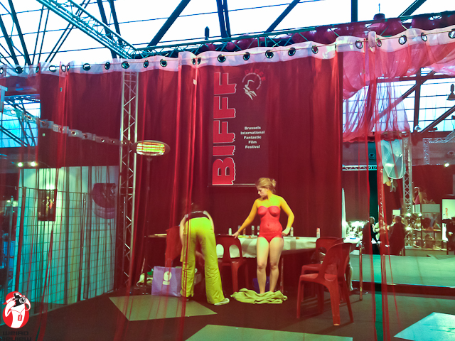 Live body painting was just one of the many things on display at the festival headquarters