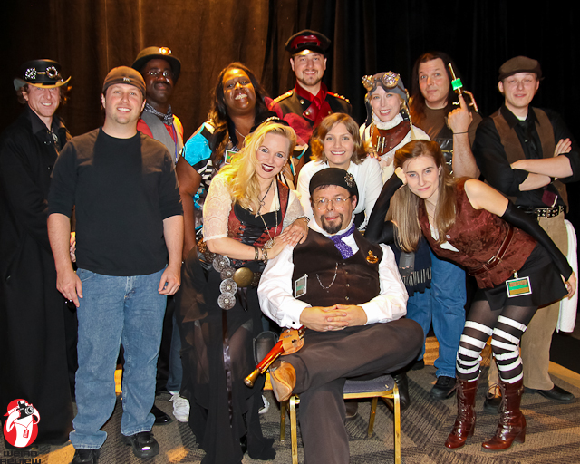 Author John R White and the Cast and Crew of Tales of the Airship Neverland