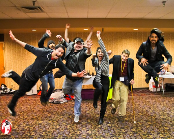 Jumping for Joy with Eyeshine at Anime-ZING!