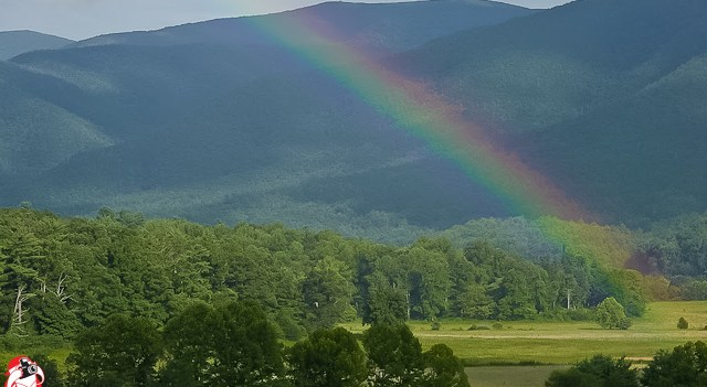 A Rainbow in the Great Smoky Mountains - Photo by Captain Brian