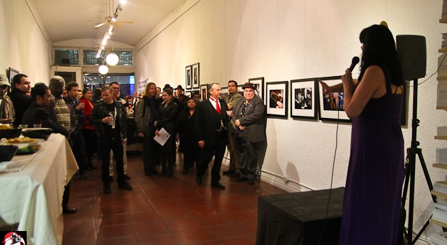 At the Monday Night Tease Retrospective photo gallery opening with Pop Haydn