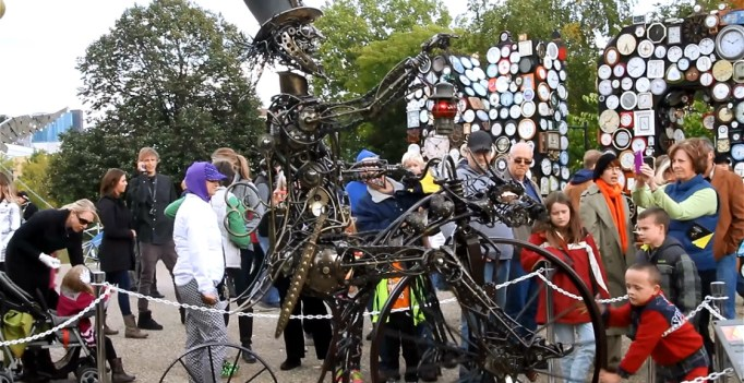 """Anthony Jackson's """"Looking For Alice"""" at the Gerald Ford Museum during ArtPrize 2014"""