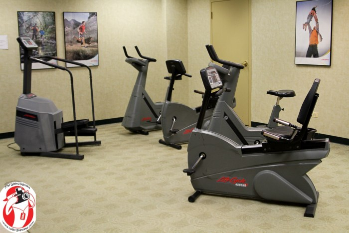 One of the exercise stations in the exercise room