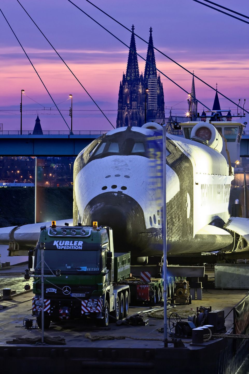 Buran on it's way to a museum in Germany.