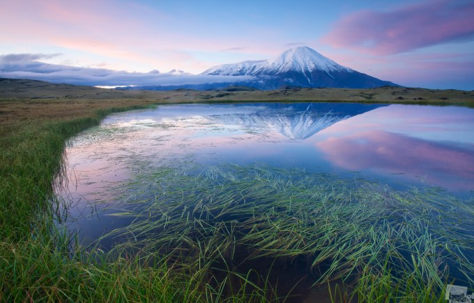 Tolbachik in the dawn, Kamchatka Krai, Photo by  	 Alexey Kharitonov