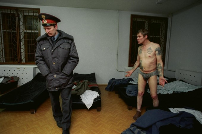 Vytrezvitel (a jail cell accommodating alcoholics), Saint Petersburg, 2003