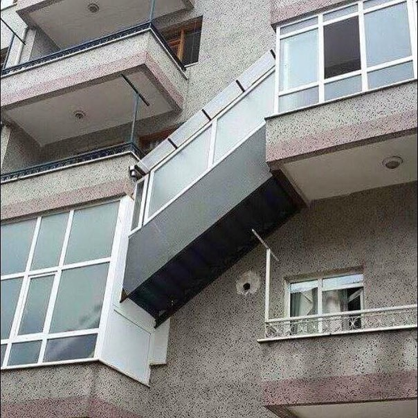Balconies in Russia