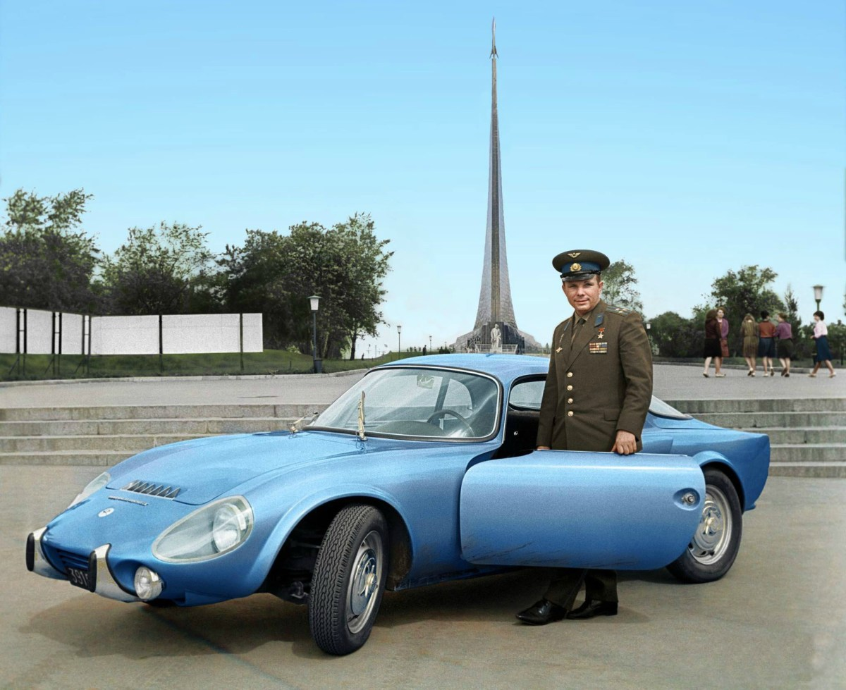 Yuri Gagarin and his Matra Djet